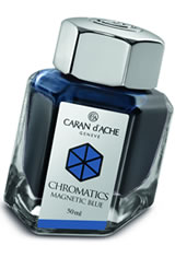 Caran d'Ache Chromatics (50ml) Fountain Pen Ink in Magnetic Blue