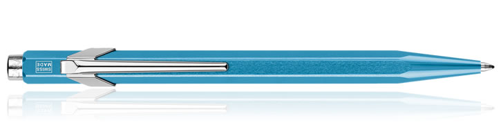 Caran d'Ache 849 Metal-X Ballpoint Pens in Turquoise