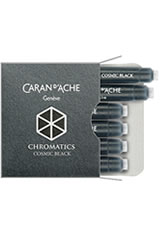 Cosmic Black Caran d'Ache Chromatics Cartridges (6pk)   Fountain Pen Ink