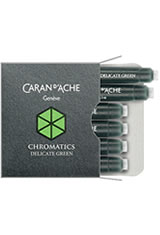 Caran d'Ache Chromatics Cartridges (6pk)   Pen Care Supplies in Delicate Green