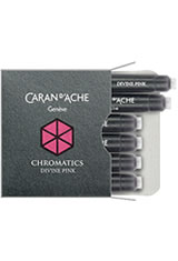 Caran d'Ache Chromatics Cartridges (6pk)   Pen Care Supplies in Divine Pink