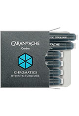 Caran d'Ache Chromatics Cartridges (6pk)   Pen Care Supplies in Hypnotic Turquoise