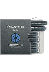 Caran d'Ache Chromatics(6pk) Empty Ink Bottles in Idyllic Blue