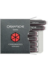 Caran d'Ache Chromatics Cartridges (6pk)   Rollerball Pen Refills in Infra Red