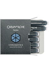 Caran d'Ache Chromatics Cartridges (6pk)   Rollerball Pen Refills in Magnetic Blue