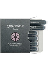 Caran d'Ache Chromatics(6pk) Empty Ink Bottles in Ultra Violet