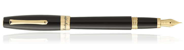 Montegrappa Felicita Fountain Pens in Black Chocolate