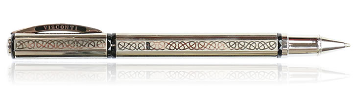 Visconti Gordian Knot Rollerball Pens in Sterling Silver