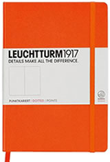 A5 Medium - Orange - Dotted Leuchtturm1917 A5 Hardcover Memo & Notebooks