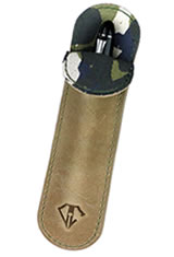 Dee Charles Designs Single Sleeve Pen Carrying Cases in Desert Green