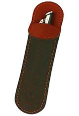Rawhide Orange Dee Charles Designs Single Sleeve Pen Carrying Cases