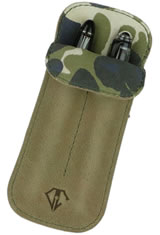 Dee Charles Designs Double Sleeve Pen Carrying Cases in Desert Green