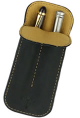 Dee Charles Designs Double Sleeve Pen Carrying Cases in Midnight Gold