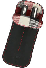 Dee Charles Designs Double Sleeve Pen Carrying Cases in Midnight Red