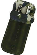 Olive Always Dee Charles Designs Double Sleeve Pen Carrying Cases