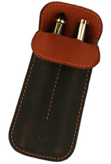 Rawhide Orange Dee Charles Designs Double Sleeve Pen Carrying Cases