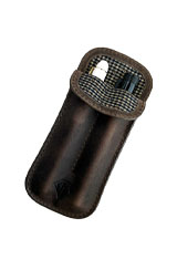 Dee Charles Designs Double Sleeve Pen Carrying Cases in Saddle Brown