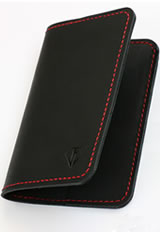 Dee Charles Designs Notebook Cover & Pen Carrying Cases in Midnight Red