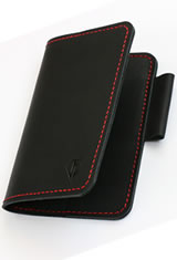 Dee Charles Designs Notebook Cover & Pen Carrying Cases in Midnight Red with Pen Loop