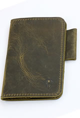 Dee Charles Designs Notebook Cover & Pen Carrying Cases in Rawhide Brown with Pen Loop