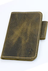 Dee Charles Designs Notebook Cover & Pen Carrying Cases in Rawhide Gold with Pen Loop