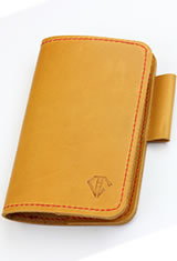 Dee Charles Designs Notebook Cover &  in Sunrise Red with Pen Loop
