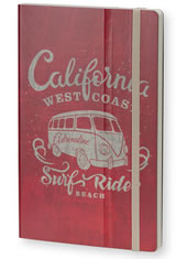 California Adrenaline Red Stifflexible Vintage Surfing Medium Memo & Notebooks