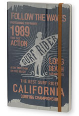 Stifflexible Vintage Surfing Medium Memo & Notebooks in Surf Rider Long Beach 1989 Blue