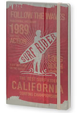 Surf Rider Long Beach 1989 Red Stifflexible Vintage Surfing Medium Memo & Notebooks