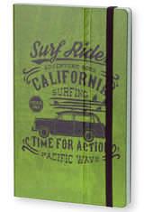 Stifflexible Vintage Surfing Medium Memo & Notebooks in Time for Action Green