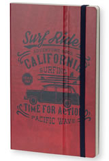 Stifflexible Vintage Surfing Medium Memo & Notebooks in Time for Action Red