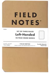 Field Notes Left-handed Memo & Notebooks
