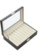 Pen Chalet 8 Pen Display Cases in Black PU Leather
