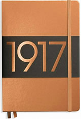 Leuchtturm1917 A5 Metallic Edition Memo & Notebooks in Copper - Dotted