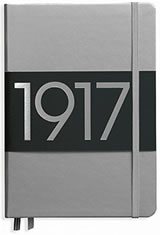 Leuchtturm1917 A5 Metallic Edition Memo & Notebooks in Silver- Dotted