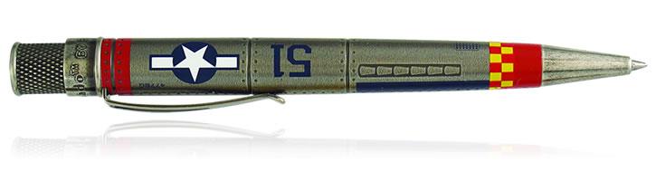 P-51 Mustang Retro 51 Tornado Vintage Metalsmith Rollerball Pens