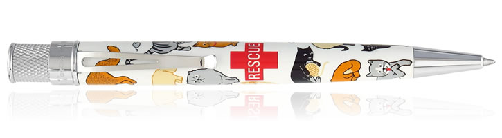 Retro 51 Tornado Rescue Rollerball Pens in Cat Rescue