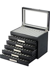 Pen Chalet 60 Pen Display Cases in Black