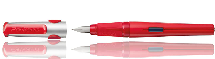 Red Pelikan Pelikano Fountain Pens