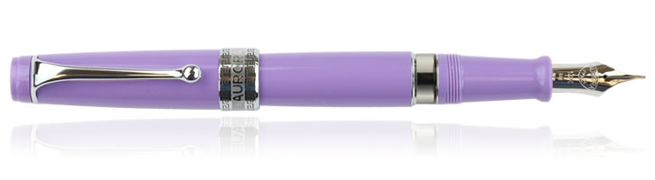 Aurora Optima Flex Fountain Pens in Violet