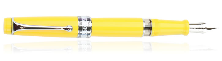 Aurora Optima Flex Fountain Pens in Yellow