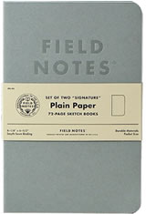 Plain Paper Field Notes Signature Memo & Notebooks