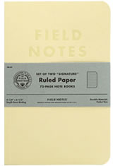 Ruled Paper Field Notes Signature Memo & Notebooks