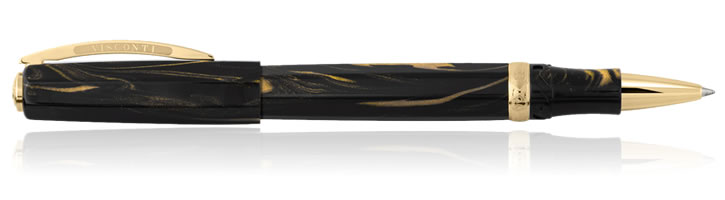 Visconti Medici Dynasty Rollerball Pens in Black Basilica