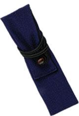 Chirimen Cobalt Taccia Kimono Wrap Single Pen Carrying Cases