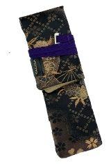 Nishijin Sakura Night Taccia Kimono Wrap Single Pen Carrying Cases