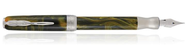 Tigers Yellow Pineider La Grande Bellezza Gemstone Fountain Pens