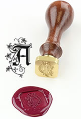 J Herbin Brass Letter Seal Sealing Wax