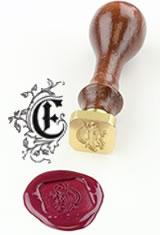 E - Illuminated Font J Herbin Brass Letter Seal Sealing Wax