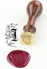 I - Illuminated Font J Herbin Brass Letter Seal Sealing Wax